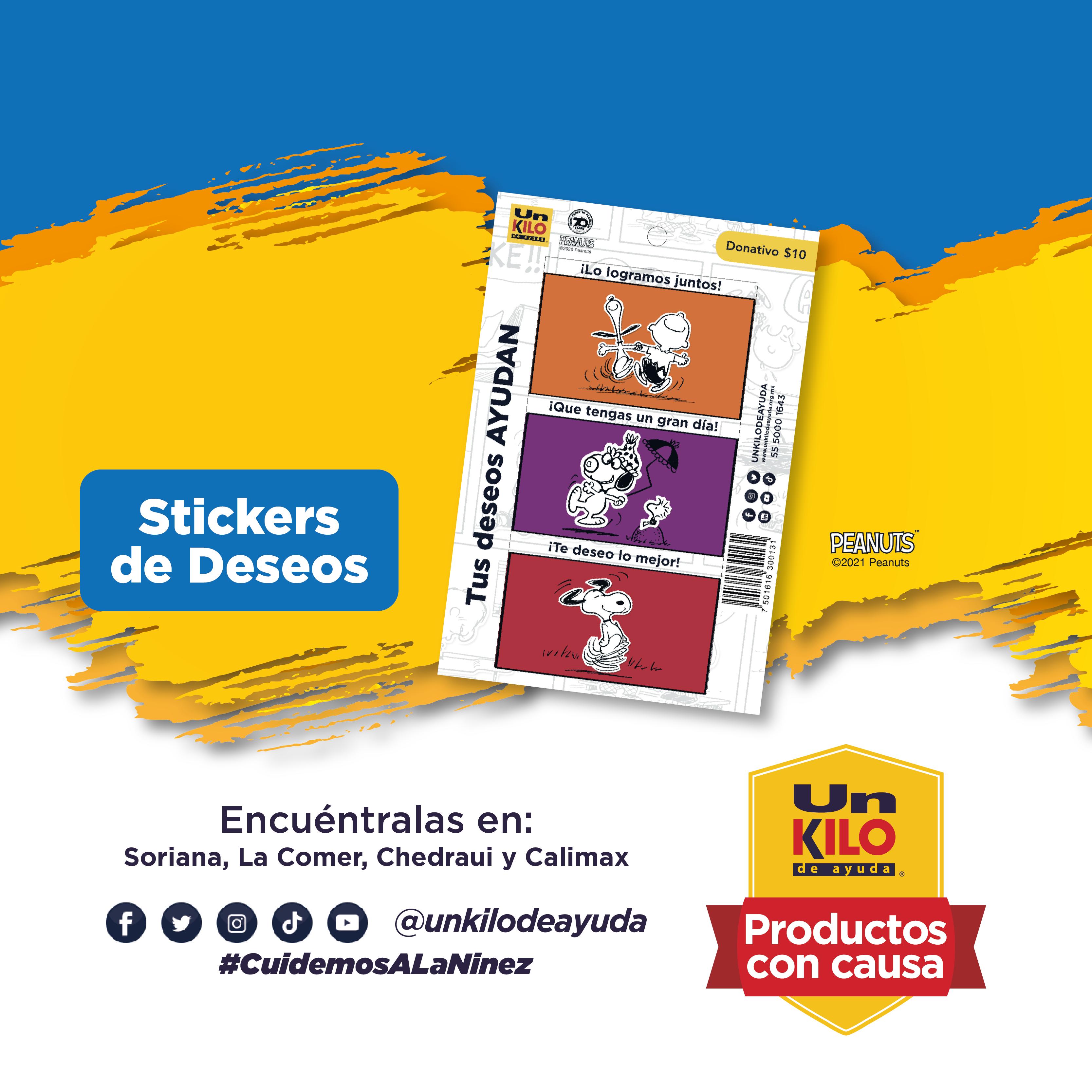 Stickers de Deseos Snoopy